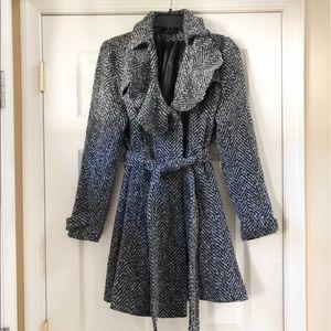 Black/Gray Long Pea Coat